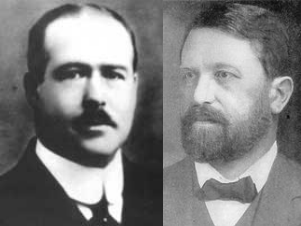 Walter Sutton (left) and Theodor Boveri (right) independently developed the chromosome theory of inheritance in 1902