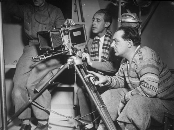 "Fritz Lang while shooting ""The Woman in the Moon"""
