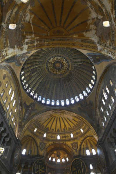 Hagia Sophia, The vaulting of the nave, by Steve Evans from Citizen of the World (Istanbul 036) via wikicommons.org