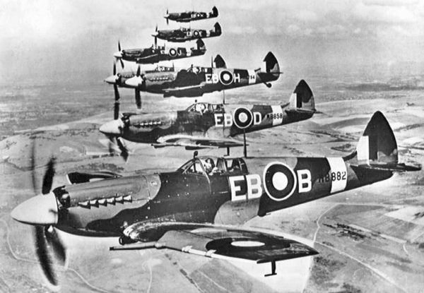 Supermarine Spitfire LF Mk XIIs of 41 Squadron in April 1944