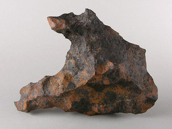 Fragment of the Canyon Diablo iron meteorite.