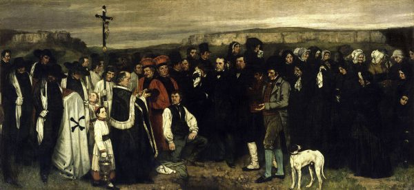 Gustave Courbet, A Burial at Ornans, 1849–50, oil on canvas