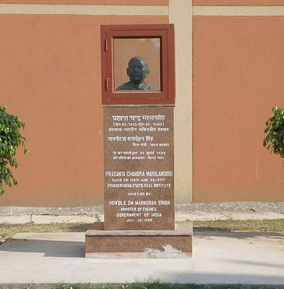 Statute of founder Prasanta Chandra Mahalanobis at Indian Statistical Institute, Delhi Centre. Photo by: Prateek Karandikar