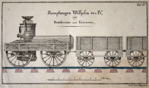 Steam locomotive William IV by John Ericsson and John Braithwaite