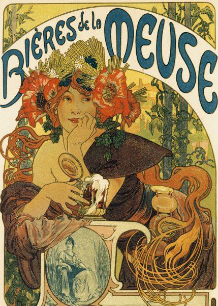 Alphonse Mucha - Bières de la Meuse