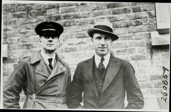 Arthur Whitten Brown (left) and John Alcock