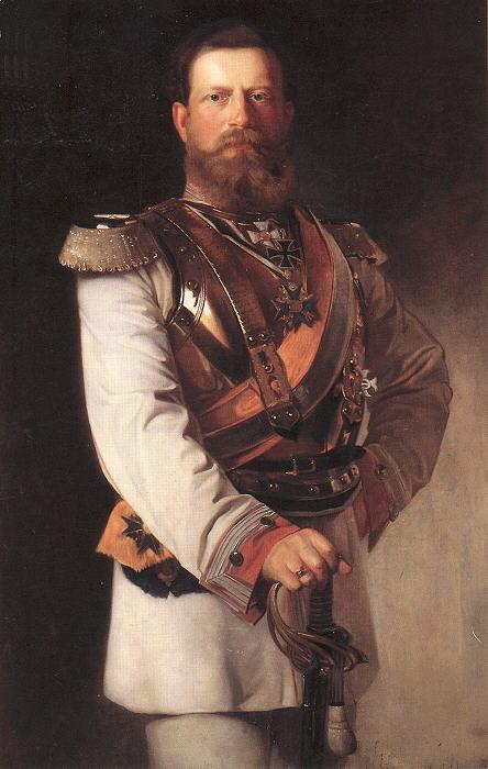 Frederick as crown prince, 1874, by Heinrich von Angeli