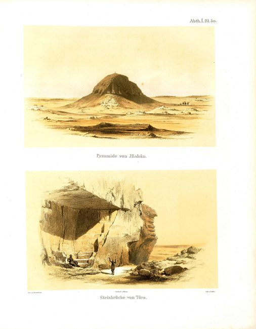 Pyramid of Illahun and quarries of Tura from monuments from Egypt and Ethiopia