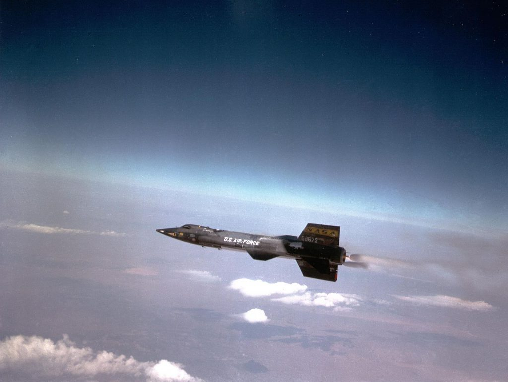 North American X-15 pulling away