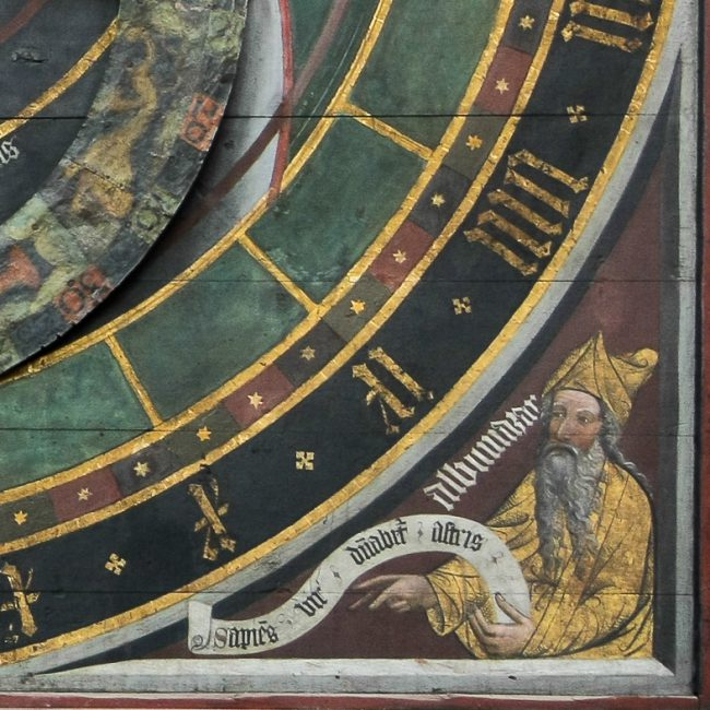 Representation of Albumasars on the astronomical clock of Nikolaus Lilienfeld