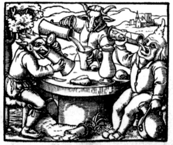 Matthäus Fridrich: Wider die(?)/den(?) Sauffteuffel, 1562 (Prädikantenbibliothek Isny)