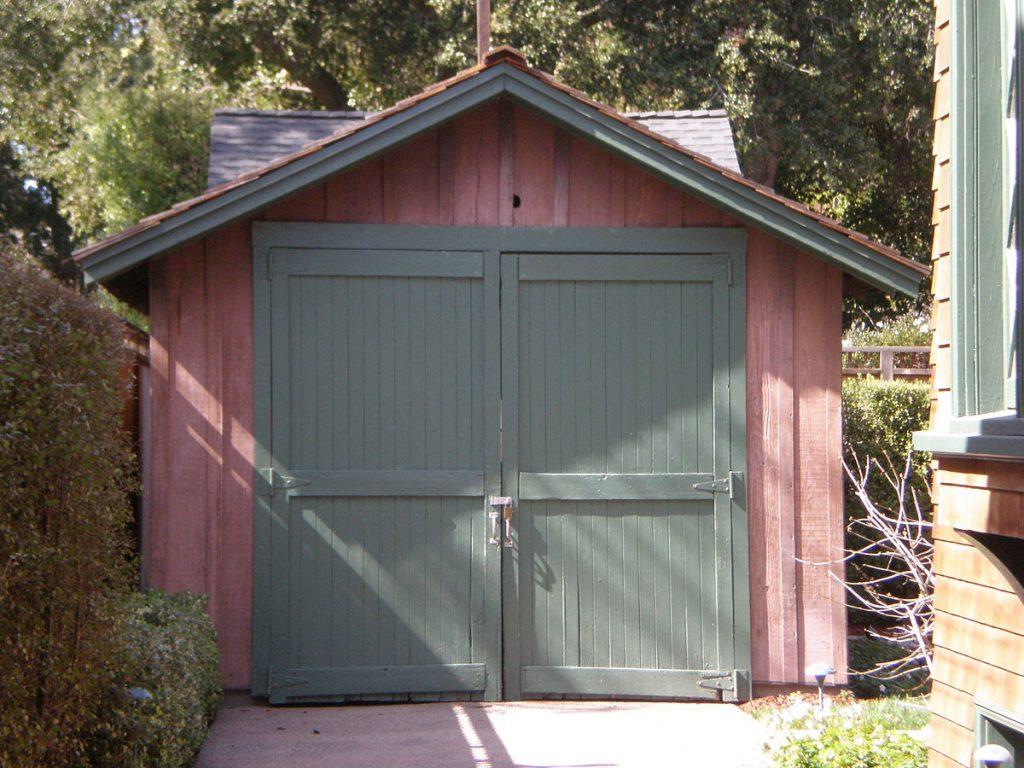 The garage in Palo Alto where William Hewlett and David Packard started their company