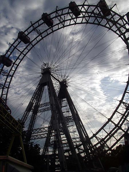 "Wiener Riesenrad, one of many Viennese landmarks in the film ""The Third Man"" (1949)"