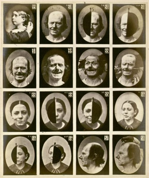 Duchenne de Boulogne, Facial expressions triggered by electric stimulation