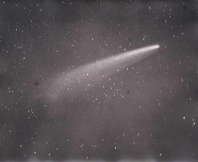 Photograph of the comet as seen from Cape Town by David Gill