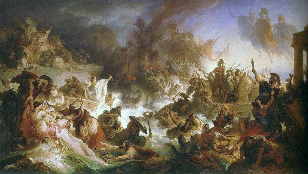 Kaulbach, Wilhelm von - Die Seeschlacht bei Salamis - 1868