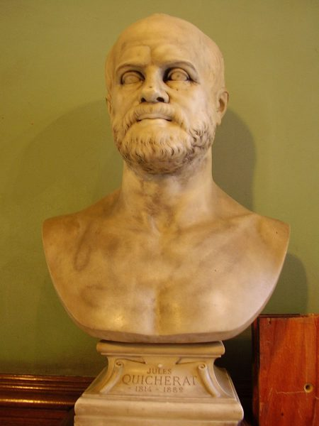 Bust of Jules Quicherat, in the hall of the École des Chartes