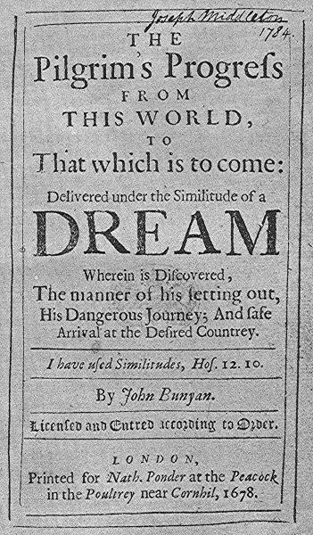 Pilgrim's Progress, first edition 1678