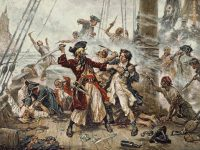 The Death of Blackbeard, Terror of the Carribean