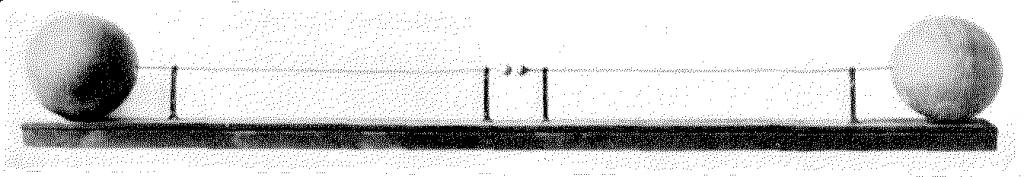 The first spark gap oscillator built by Heinrich Hertz around 1886