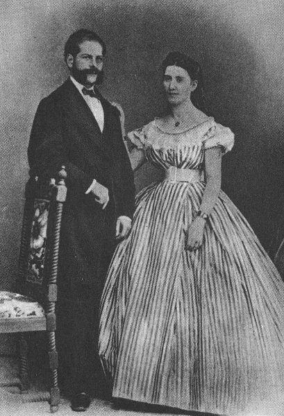 Emil Rathenau and his wife Mathilde Rathenau