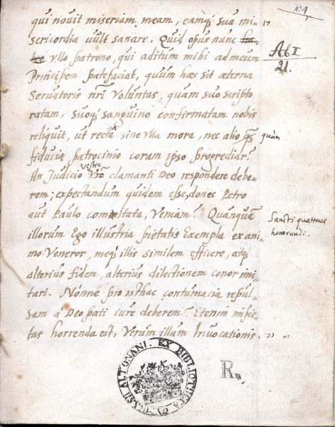 The first page of the (incomplete) Altona manuscript of the Historia de statu Belgico by Francisco de Enzinas, 1545 (N. 4r; p. 17)