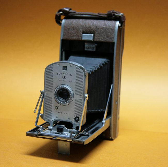 Polaroid Model 95, the company's first instant camera introduced in 1948, Edwin Land