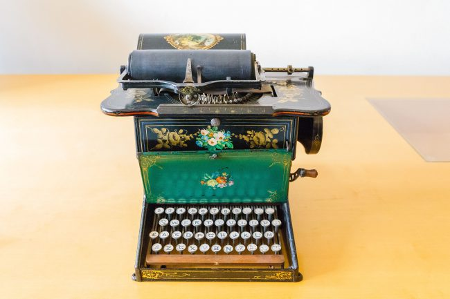 The Sholes and Glidden typewriter (also known as the Remington No. 1)