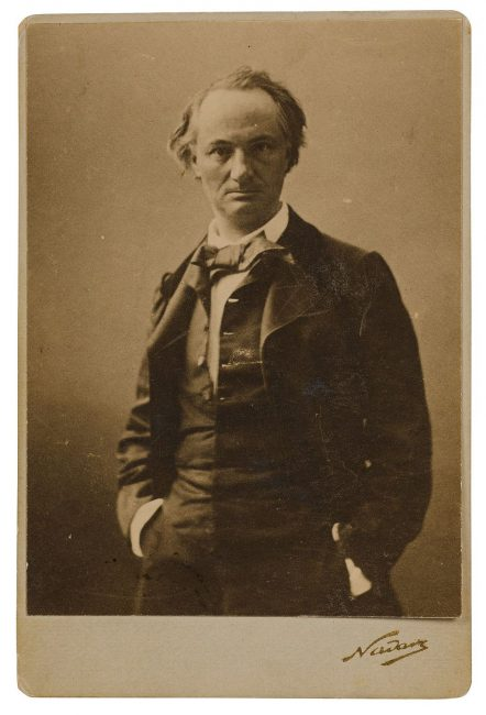 Portait of Charles Baudelaire by Nadar (1855)