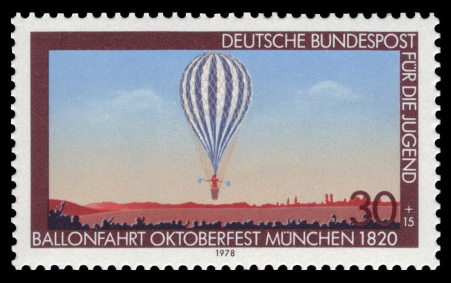 Balloon flight Oktoberfest Munich 1820
