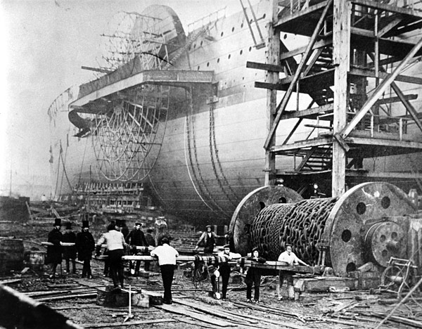 Great Eastern shortly before launch in 1858