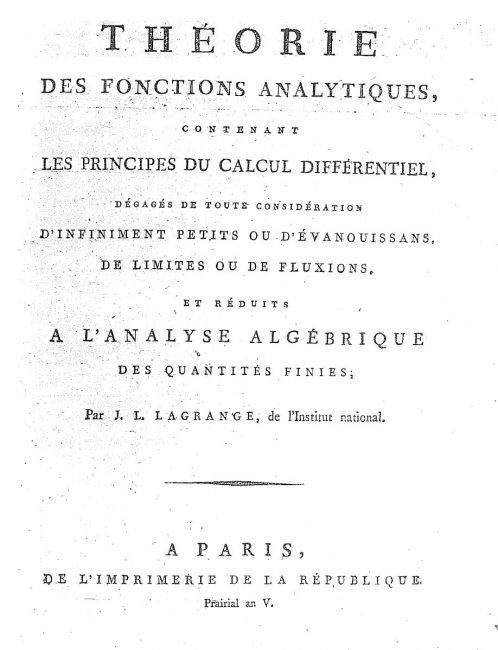 Théorie des fonctions analytiques