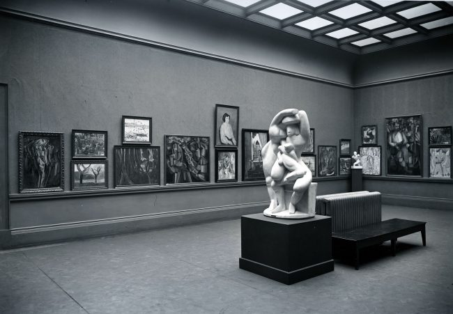 Armory Show, International Exhibition of Modern Art. The Cubist room, Gallery 53 (northeast view), Art Institute of Chicago, March 24–April 16, 1913