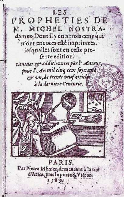 An edition of Nostradamus Centuries from the year 1589