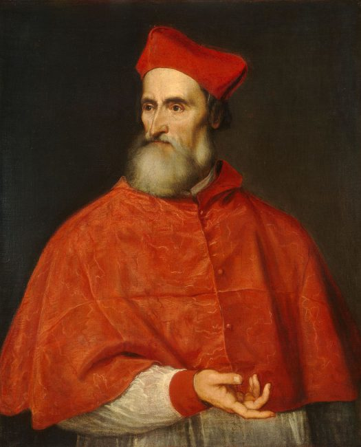 Cardinal Pietro Bembo (1470-1547), Portrait by Tizian
