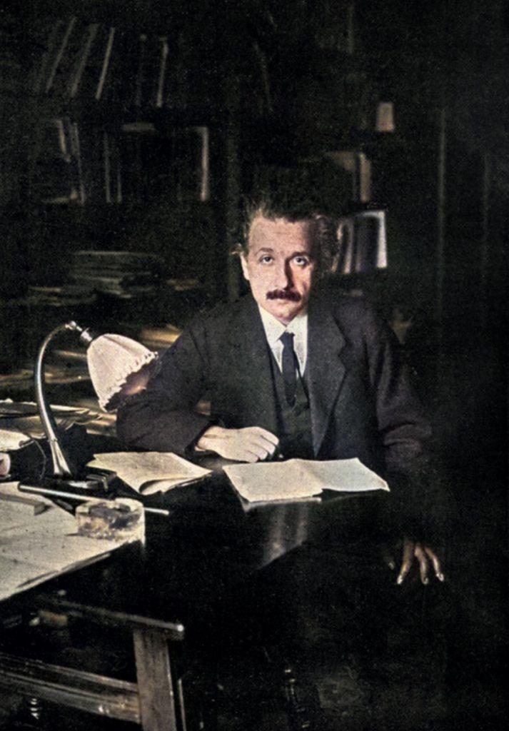 Albert Einstein (1879-1955) from Scientific Monthly 10:4 (1920)