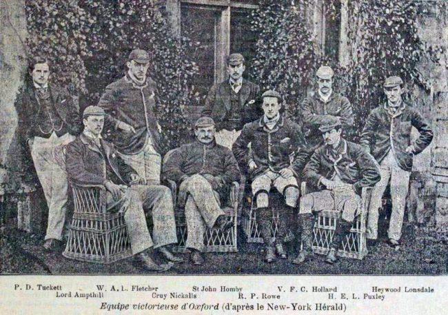 The Oxford Winning Team of 1890, La Revue des Sports (Paris), 29 mars 1890, p.1019