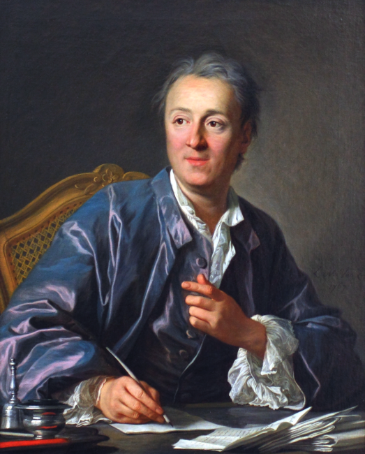 Denis Diderot (1713-1784), Painting by Louis-Michel van Loo, 1767