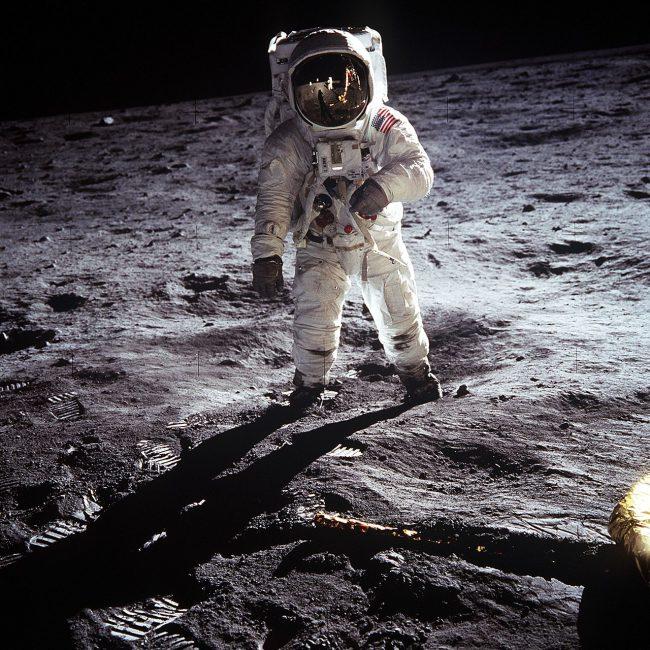 Astronaut Aldrin on the moon
