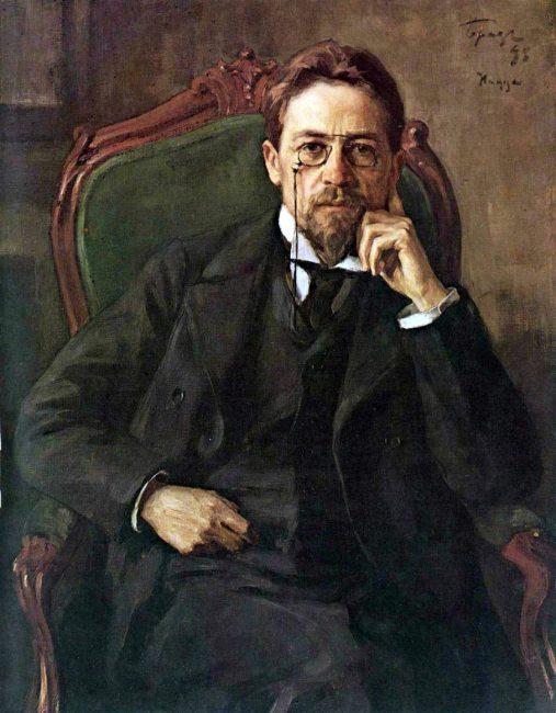 Anton Chekov (1860-1904), Portrait by Osip Braz (1898)