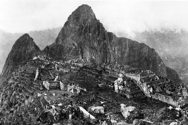 Machu Picchu in 1912 – the ruins after major clearing and before reconstruction work began