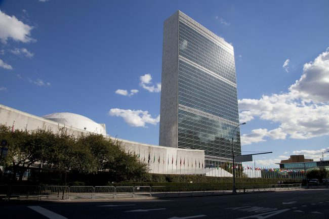 The Headquarters of the United Nations designed by Le Corbusier, Oscar Niemeyer and Wallace K. Harrison (1947–52)