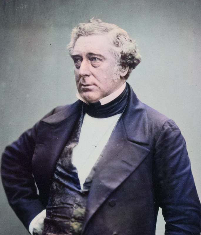 Photograph of Robert Stephenson published in Photographic Portraits of Living Contemporaries, July 1856