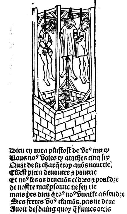 La Ballade des pendus, édition Treperel, Paris, 1500.