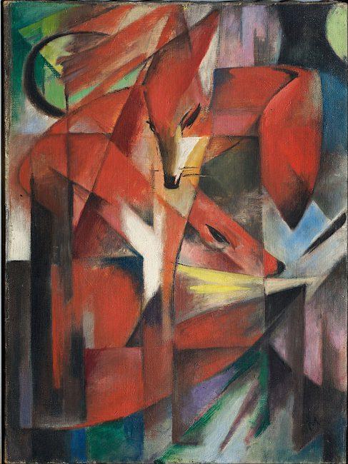 Franz Marc, Füchse (Foxes, 1913)