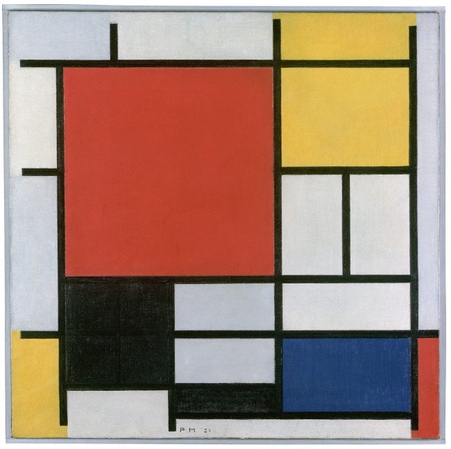 Composition with red, yellow, blue and black, 1921, Gemeentemuseum Den Haag