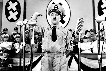 Charlie Chaplin in the film The Great Dictator (1940)