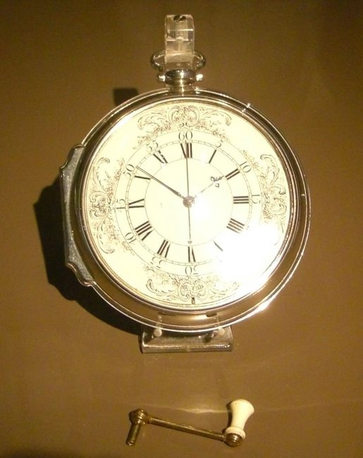 Harrison's chronometer on display at National Maritime Museum in Greenwich