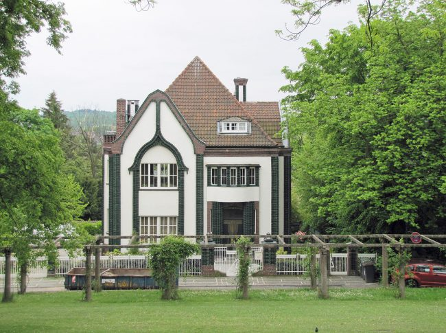 Behrens residential building in the artists' colony on the Mathildenhöhe near Darmstadt (built in 1901)