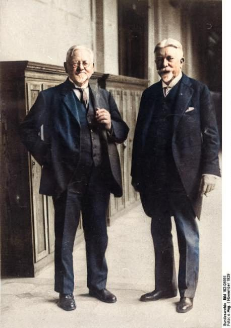 August von Parseval (left) with Johann Schütte, 1929